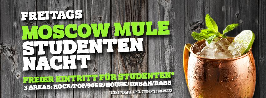 Studenten Freitag mit Jägermeister Mule